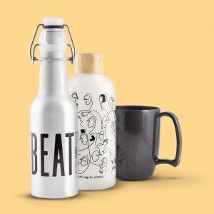 Tassen, Becher & Flaschen