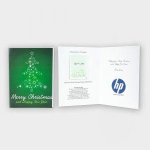 Christmas card with Christmas Tree seeds