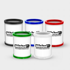 The Green & Good Recycled Round Full colour pen pot