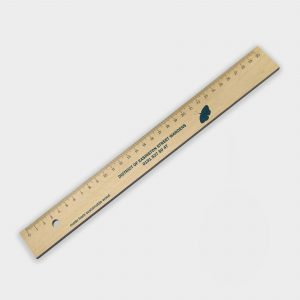 30cm Wooden ruler - règle 30cm en bois certifié durable