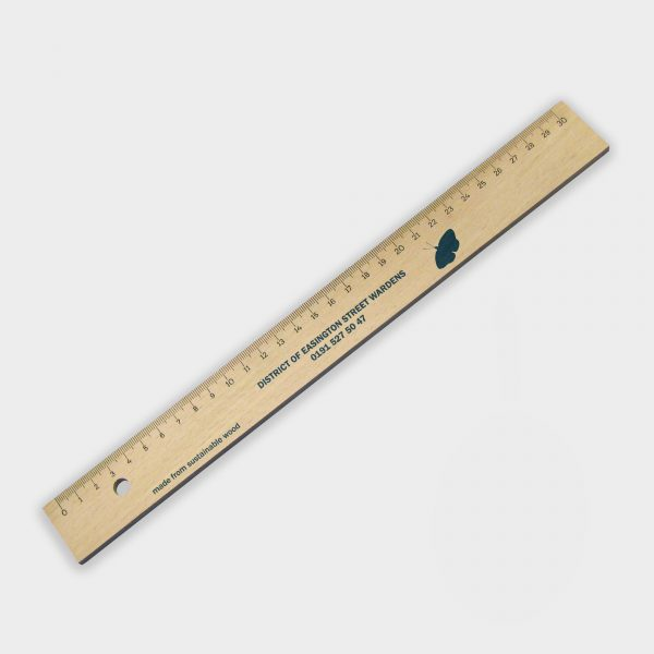 Règle 30cm en bois certifié durable