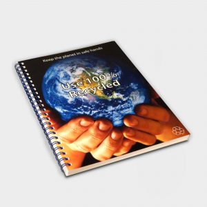 Wirebound Full Colour Notebook A4 - Cahier recyclé