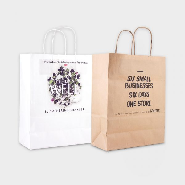 A4 Sustainable carrier bag- marquage digital CMYK