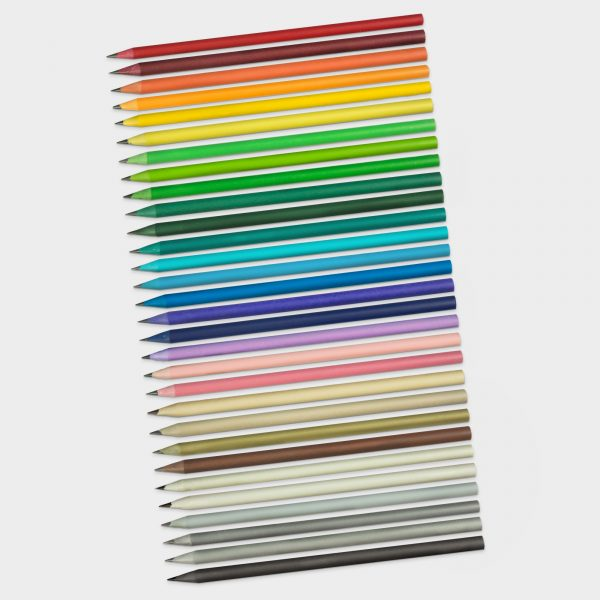 30 made to order colours in our popular recycled pencil