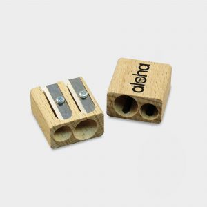 The Green & Good Double cavity wooden pencil sharpener