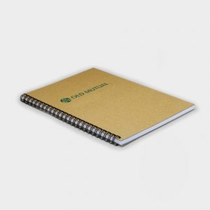 The Green & Good A5 Wire Notebook, Recycled Natural Board & Paper