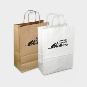 "The Green & Good Sustainable paper carrier Bag with twisted ""cord"" handles"