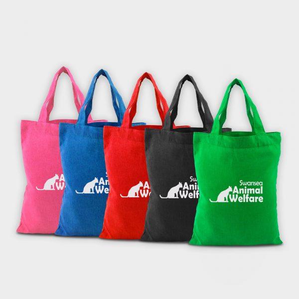 Coloured Greenwich, mini cotton bag