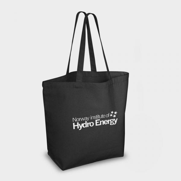 Heavy duty Azo Free cotton canvas bag  - BLACK