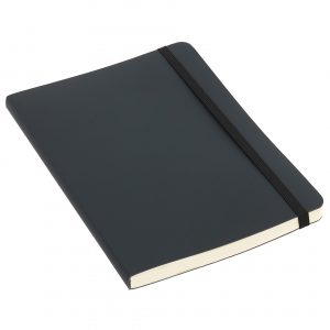 Contemporary notebook with covers made from recycled leather fibres