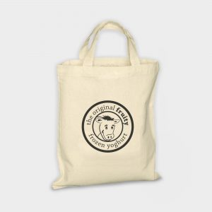 The Green & Good Small unbleached cotton bag, ideal for snacks or sandwiches