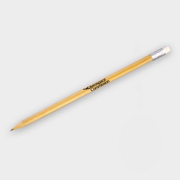 Crayon en bois avec gomme - Bois certifié durable