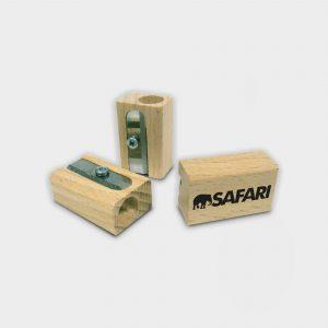 Notre Green & Good Taille-crayon en bois avec 1 seule cavité ( taille de crayon standard)