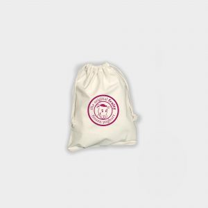Draw string pouch - Medium  poche en coton naturel