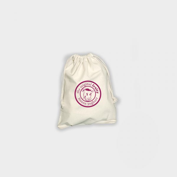Draw string pouch - Medium  poche en coton naturel