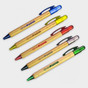 Colourful sustainable wooden pens