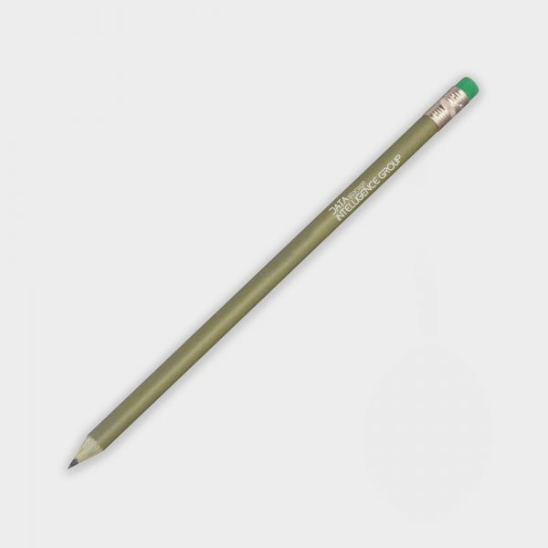 The Green & Good Recycled Money Pencil is the ideal give-away for a finance, banking or investment brand. It is made from 30% recycled dollar bills and 70% recycled polystyrene. Comes in a green colour with a gold ferule and a green eraser. Made in the USA.