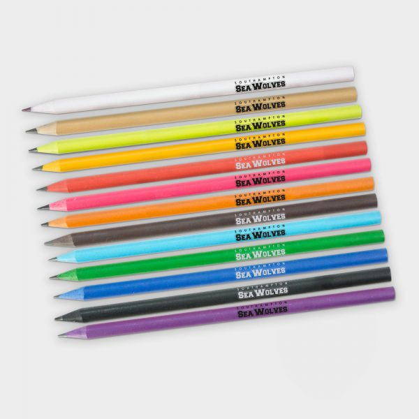 The Green & Good Recycled CD case pencil, available in 13 popular colours