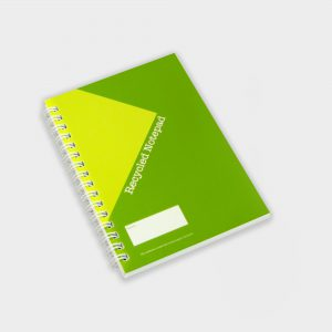 The Green & Good Wirebound Notebook is made from recycled paper - size A6. The cover is 250gsm, the sheets are 80gsm and the backboard is 500 micron. Comes wirebound with 50 sheets as standard. Please contact us if you require a bespoke number of sheets.
