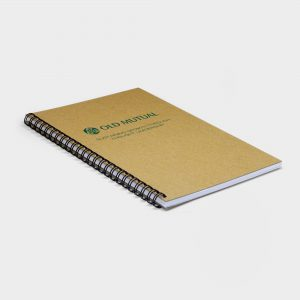 The Green & Good A4 Wire Notebook, Recycled Natural Board & Paper