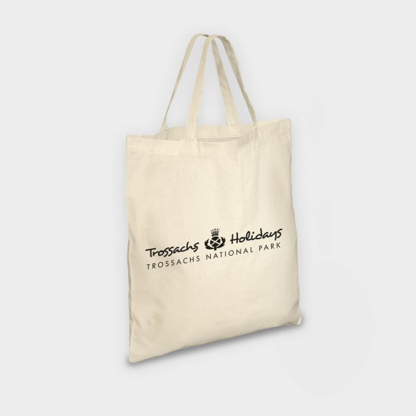 The Green & Good  Natural Cotton eco shopper with short handles