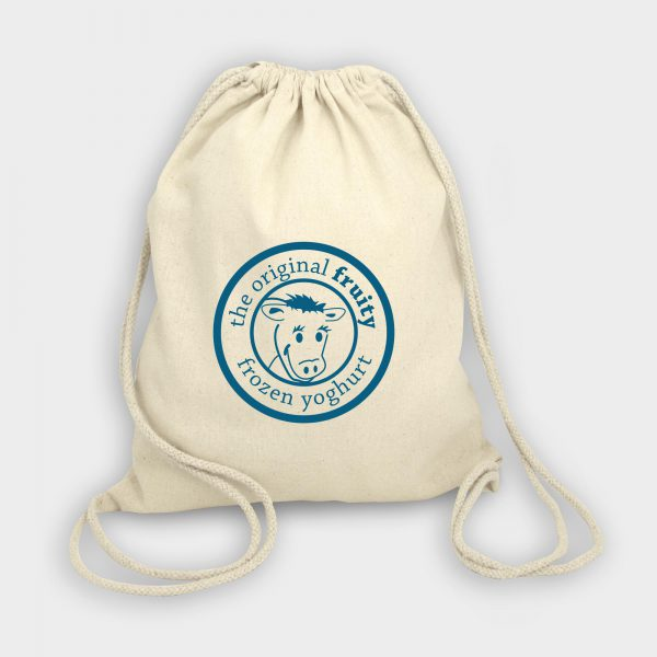 The Green & Good Columbia Cotton Backpack is made from Oekotex 100 certified unbleached cotton. Great as a cotton kids or sports backpack, it can be printed both sides. Natural drawstring rope handles as standard.  120gsm cotton.