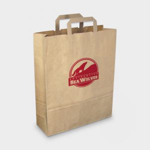 The Green & Good Recycled Paper Carrier Large is made from recycled paper. It comes as standard with flat tape handles and is only available in brown. Made in the EU, it is great for give-aways and sturdy enough for groceries. 90gsm.