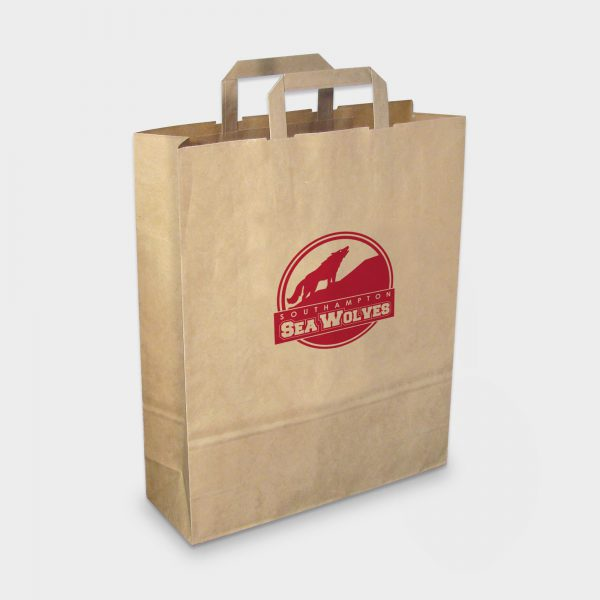 The Green & Good Recycled paper carrier with flat tape handles