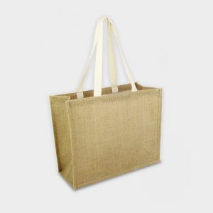 The Green & Good Budget jute shopper bag with soft shoulder handles