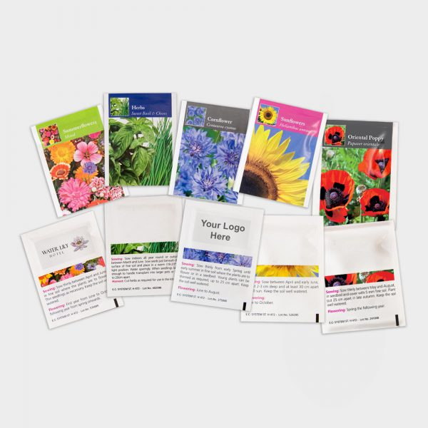 The Green & Good Seeds in pre-printed packets