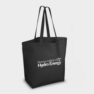 Heavy duty Azo Free cotton canvas bag  - BLACK