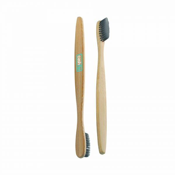 The Green & Good Toothbrush made from sustainable bamboo. Eco-friendly toothbrush with charcoal-nylon bristles. Handle is 100% biodegradable. A great plastic-free option.