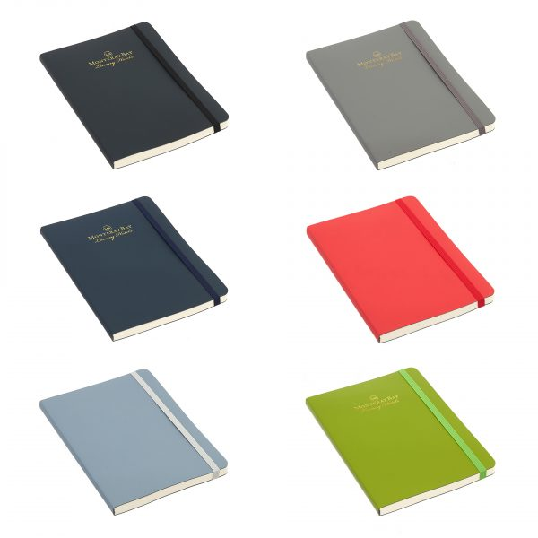Contemporary notebook with covers made from recycled leather fibres which are Oekotex certified. Made in the EU, this notebook has a great feel is and is beautifully finished. Comes as standard with 192 (96 sheets) pages ivorysustainable LINED paper. Availablein 6 stylish colours with elastic closures as shown.